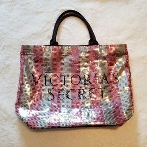Large Victoria Secret sequin bag